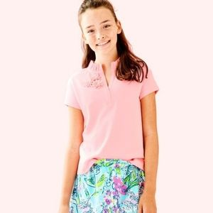 Lilly Pulitzer Girls Thierry Flower Polo T-shirt